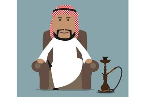 Relaxed arab businessman