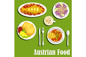 Popular dishes of austrian cuisine