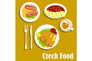 Сzech cuisine dishes and drinks