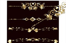 Gold set clipart borders.