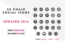 19 Chalkboard Social media Icons