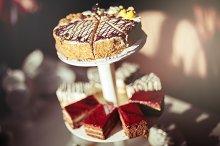 Different tasty cakes