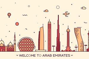 Skyline of Arab Emirates