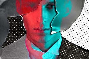 Abstract fashion man face