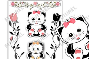 SALE A beautiful picture cat CLIPART