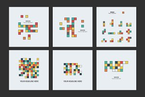 Figures from colored squares
