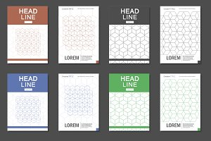 Hexagon pattern brochure