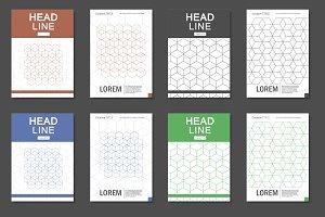 Hexagon pattern brochure