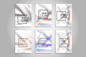 Abstract color line design template