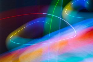 meditation color abstract wave blur lights in motion