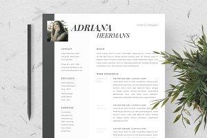Adriana - Feminine Resume/CV