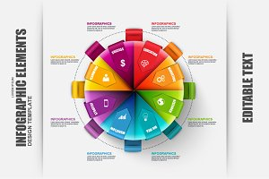 Business Infographic Circle Template