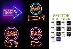 Vintage Neon Sign Bar