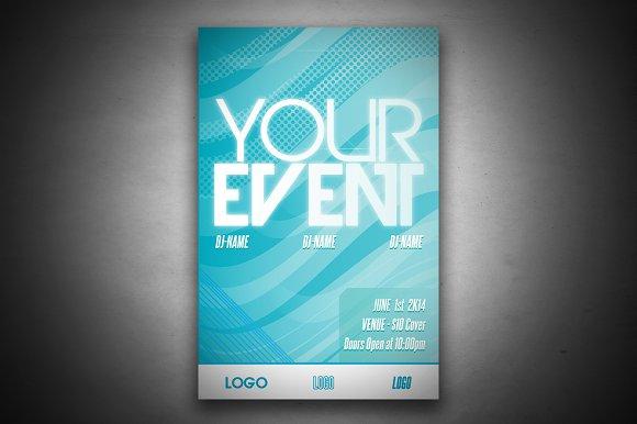 event poster flyer templates creative market