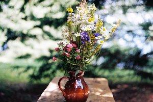 Summer, wild flowers bouquet