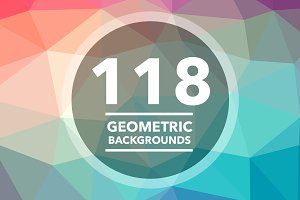 Geometric Triangle Backgrounds 118