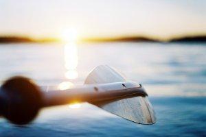 Summer, lake, kayaking