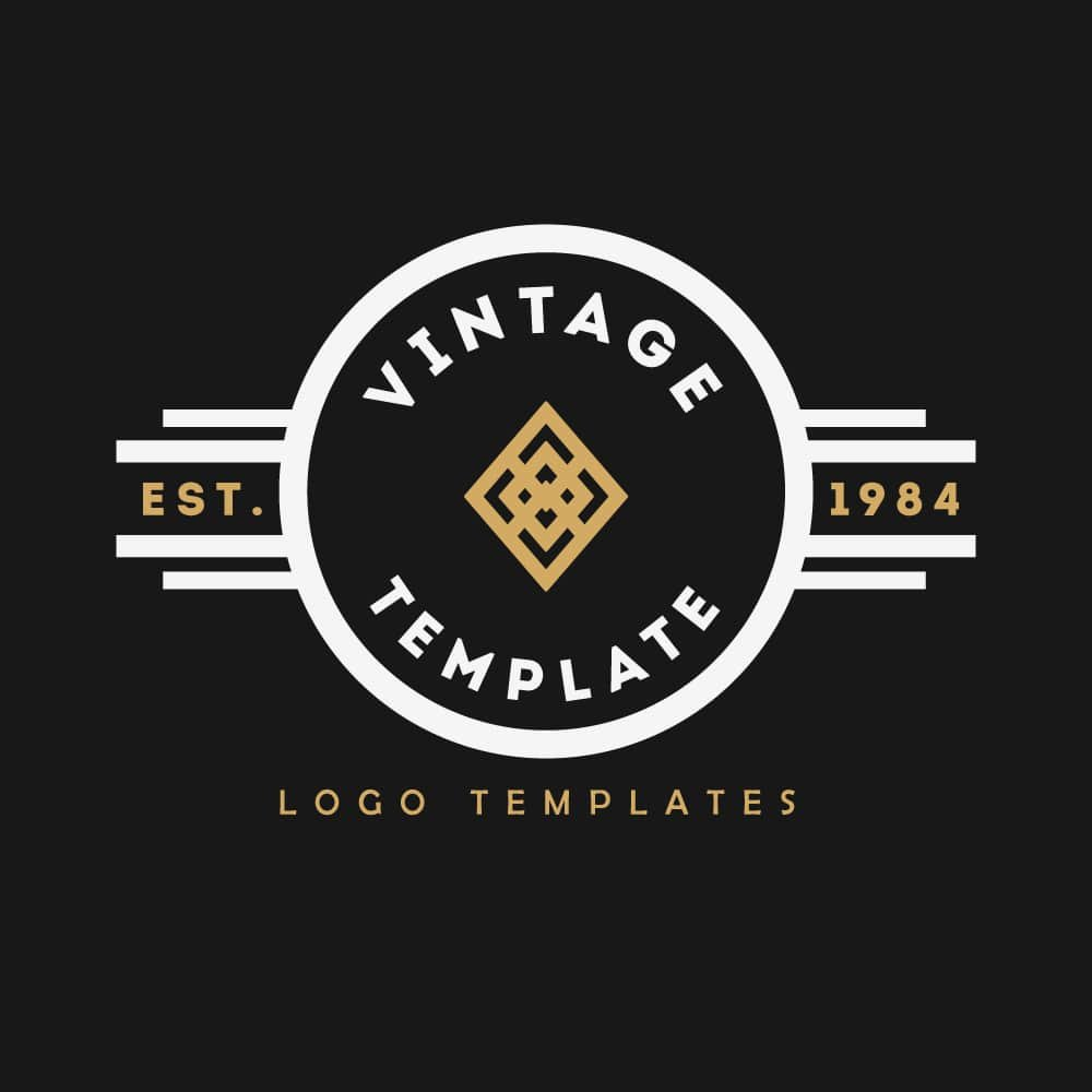 vintage logo templates 1 logo templates creative market. Black Bedroom Furniture Sets. Home Design Ideas