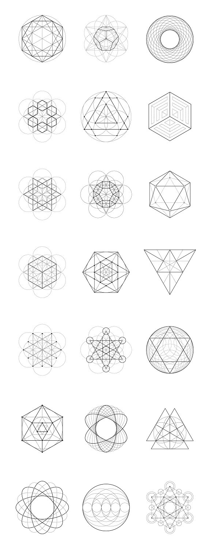 Massive geometry bundle illustrations creative market fandeluxe Images
