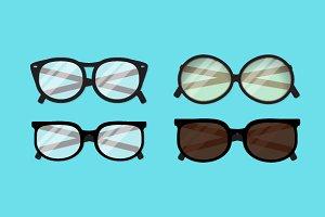4 x glasses
