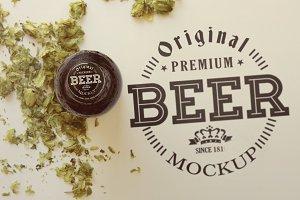 Beer Cap |Logo Mockup