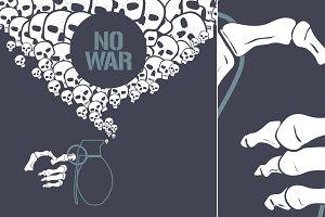 Stop war concept vector illustration
