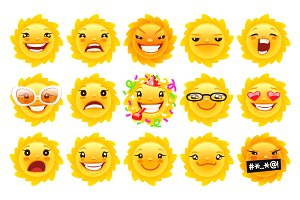 Funny Sun Emojis
