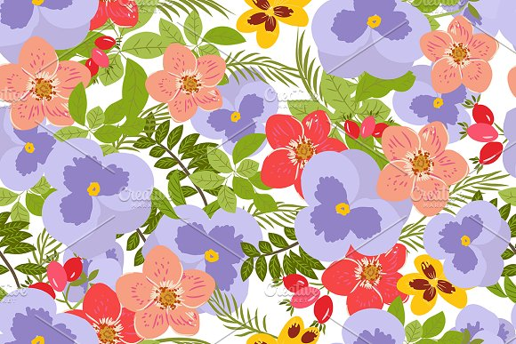 №106 Floral background  in Patterns - product preview 1