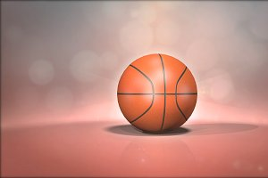 Basketball Ball With Background