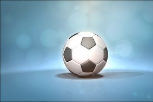 Soccer Ball With Background