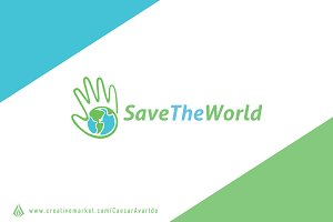 Save The World Logo Template