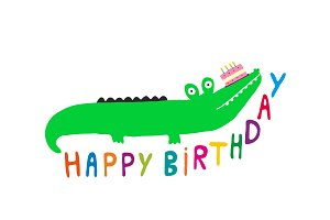 Happy Birthday Crocodile