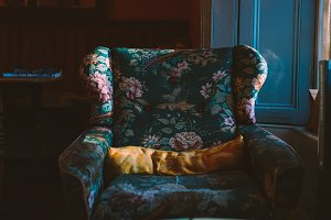 A photo of a cosy armchair