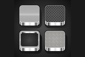 Metal Texture Icons Set