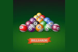 Billiard Balls. Vector