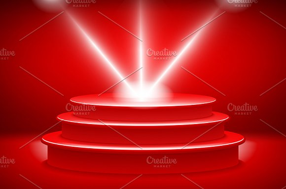 red podium on a background graphics creative market