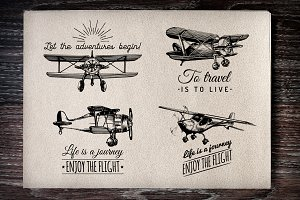 Planes vintage posters