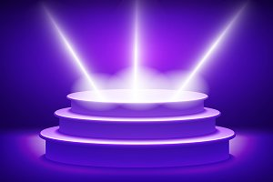 violet Illuminated stage podium