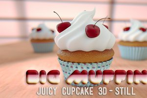 Big Yummy Muffin/Cupcake 3D Render
