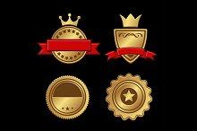 Gold Badges Vintage Award Set