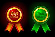Award label Best choice