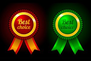 Award label Best choice