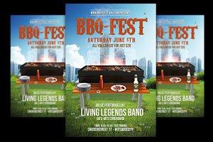 BBQ Fest Flyer + FB Banner