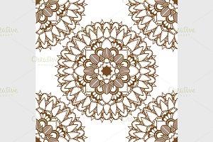mandalas seamless pattern
