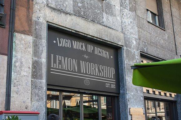 Download Logo Mockup Entrance Signboard