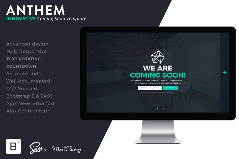 9 Creative Coming Soon Bootstrap Themes