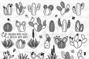 Cactus & Succulent Clipart & Vectors