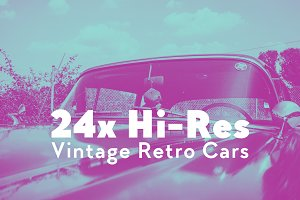24x Hi-Res Vintage Retro Cars