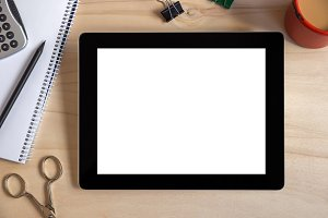 Digital tablet with isolated screen