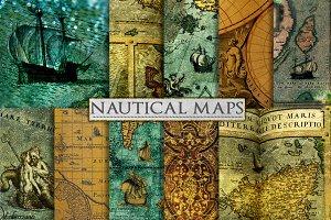 Nautical Backgrounds - Sea Map Art